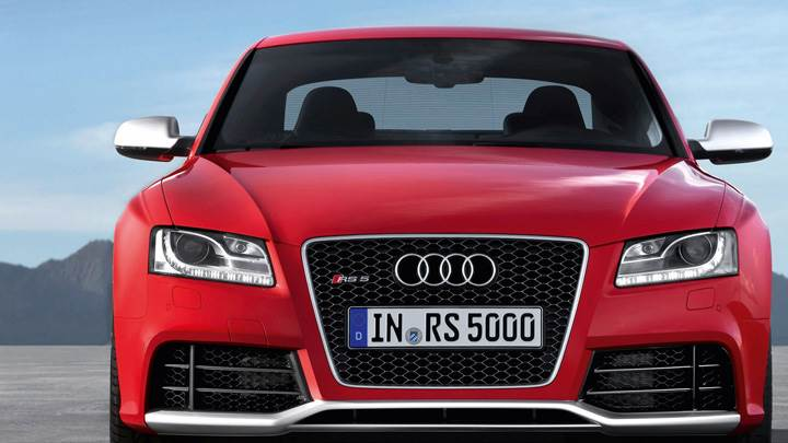 Front Pose Of 2011 Audi RS 5 In Red
